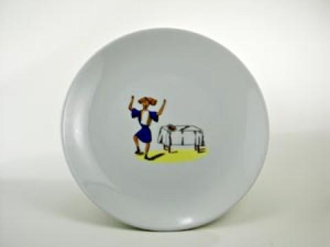 Struwwelpeter Plate 'Suppen Kaspar' Shock-Headed Peter