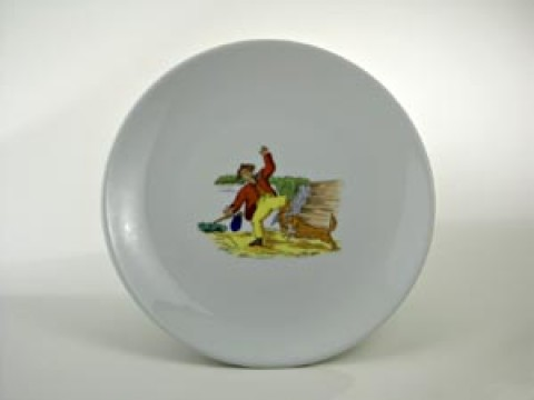 Struwwelpeter Plate 'Boeser Friederich' Shock-Headed Peter
