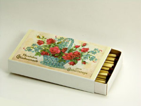 TEMPORARILY OUT OF STOCK <BR><BR> GERMAN 'Flowers' Matches