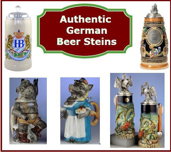authentic Oktoberfest German Beer Steins