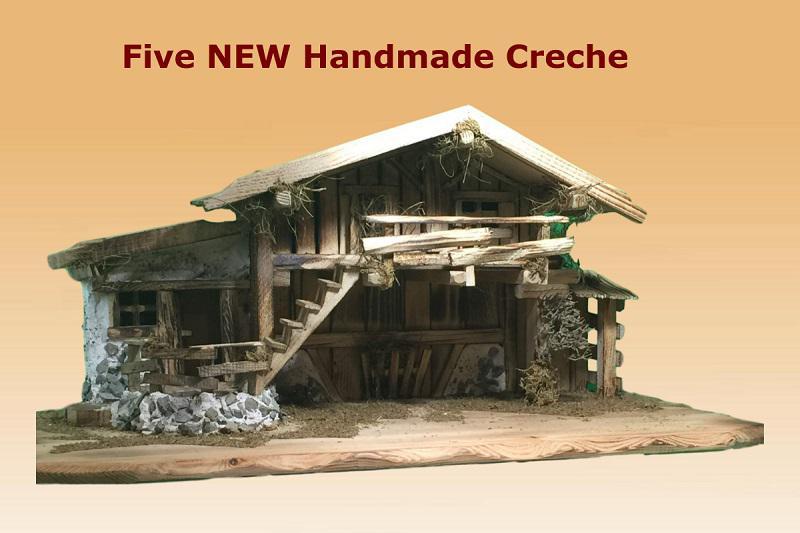 German handmade creche and Nativity scences
